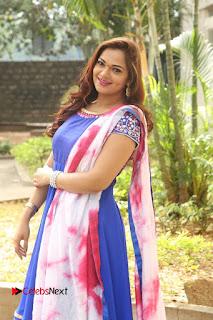 Actress Ashwini Stills in Blue Chudidar at Ameerpet Lo Release Press Meet  0174.JPG