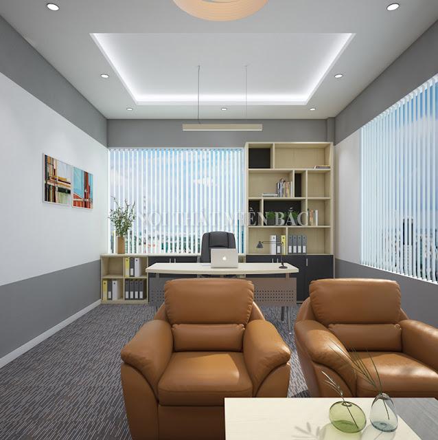 Thiết kế nội thất văn phòng giám đốc hiện đại, trẻ trung