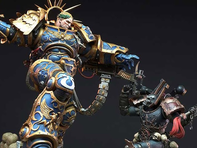 Warhammer 40,000 Guilliman vs Chaos Space Marine Limited Edition Diorama