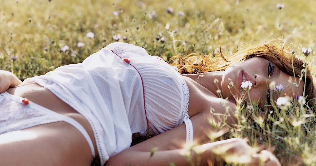 Antonina in the grass nude