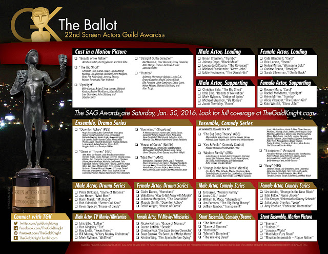 ... Awards printable ballot | The Gold Knight - Latest Academy Awards news