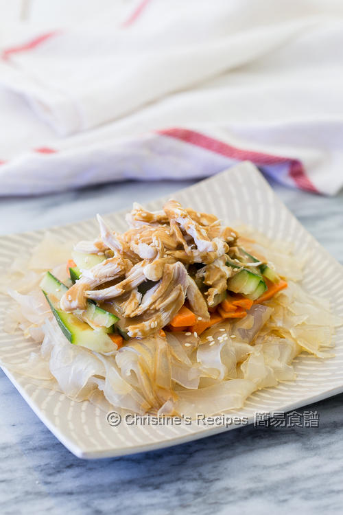 手撕雞麻醬粉皮 Shredded Chicken and Greenbean Noodles with Sesame Dressing02