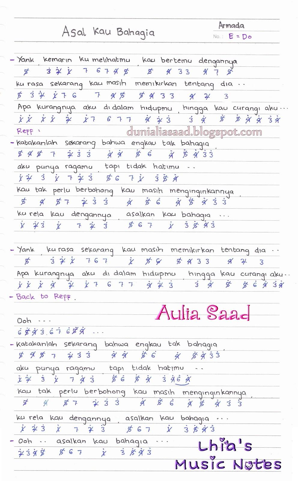 not angka : armada - asal kau bahagia | aulia's world