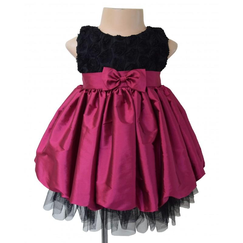 Faye Fuchsia Kids Party Dress