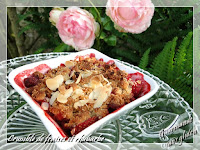 Crumble fraises rhubarbe, sans gluten