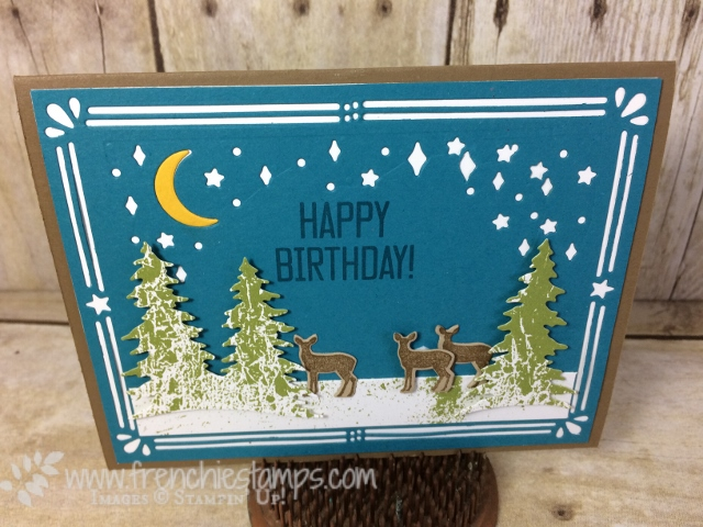 Card Front Builder Thinlits Stampin'Up! for Masculine Birthday Card