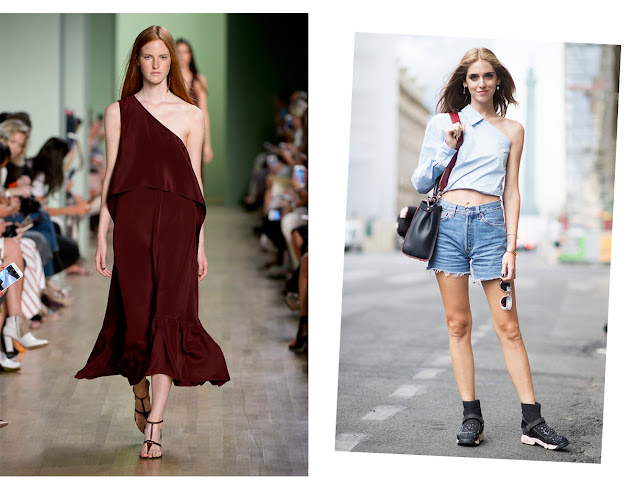 one shoulder trend style