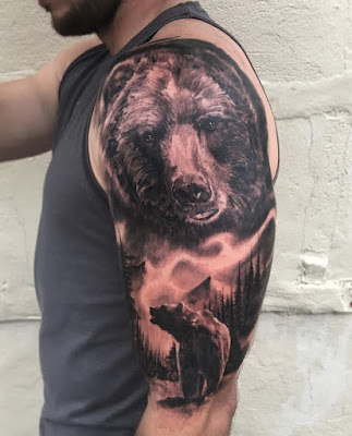 bear tattoo for sleeve