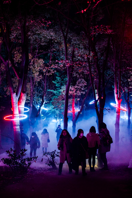 night walk Osaka Castle Park