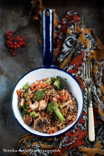 kasza gryczana, gryczotto, warzywa, kurczak, piersi, bez glutenu, hashimoto, bernika, kulinarny pamietnik