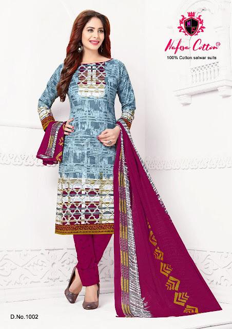 Nafisa Kasmira Premium Cotton Dress Material