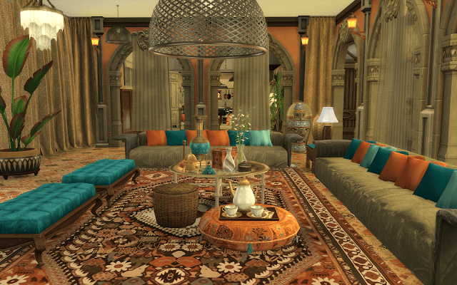 salon oriental the sims 4