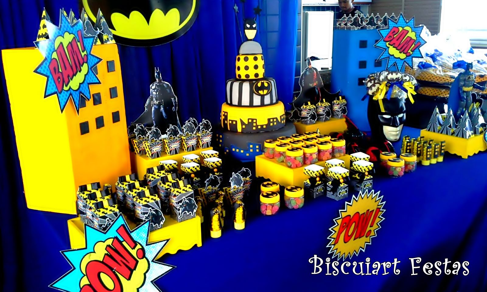 decoracao festa batman:Biscuiart Festas: festa batman, decoração batman
