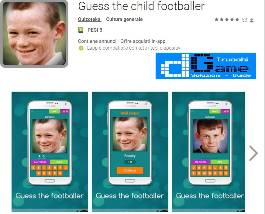 Soluzioni Guess the child footballer | Screenshot Livelli con Risposte