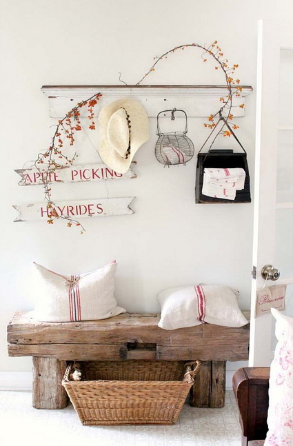 Bricolage e decora o 11 ideias para decorar o hall de for Decorar entrada chalet