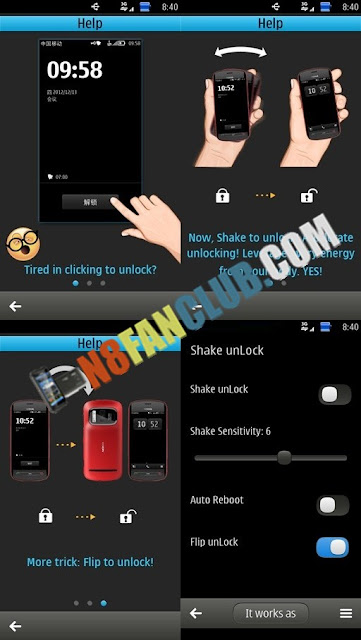 Shake Unlock Pro 1.0 - Signed - Nokia N8 - Belle - App Download