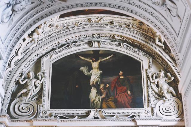 Salzburg cathedral Jesus ceiling