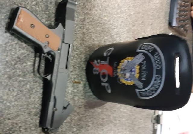 PMDF evita roubo em Ceilândia e prende homem com pistola