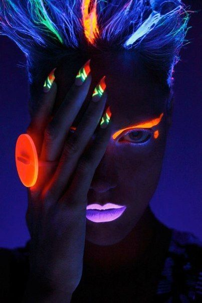 Rainbow Hair Colors That Glow In The Dark The HairCut Web