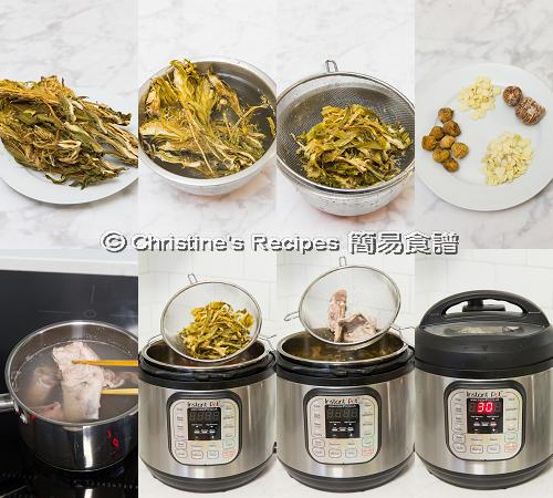 霸王花無花果排骨湯製作圖 Night Blooming Cereus Soup with Pork Ribs Procedures