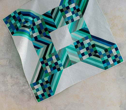 Modern X Solids Easy Breezy Quilt Designed by Angela Walters of Quilting Is My Therapy for the Midnight Quilt Show