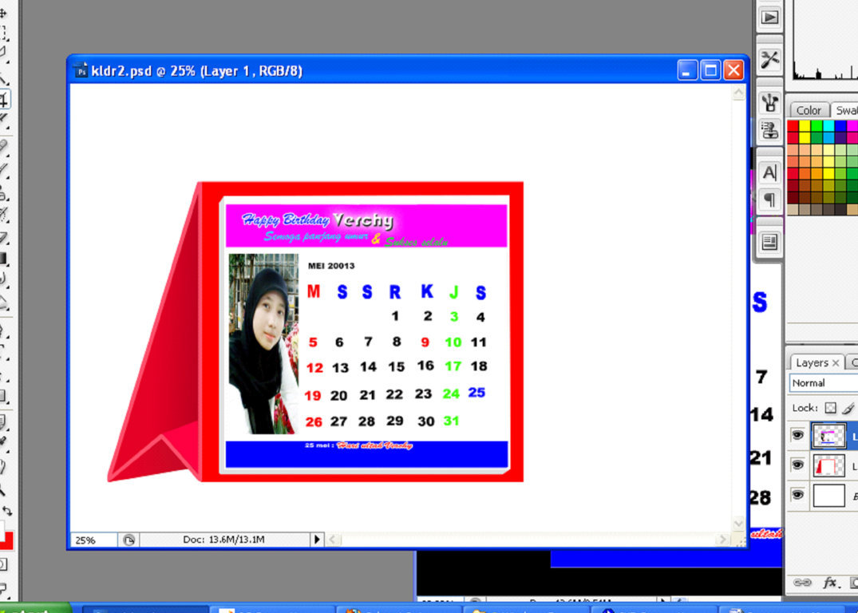 65+ Populer Gambar Kalender Di Photoshop, Desain Kalender