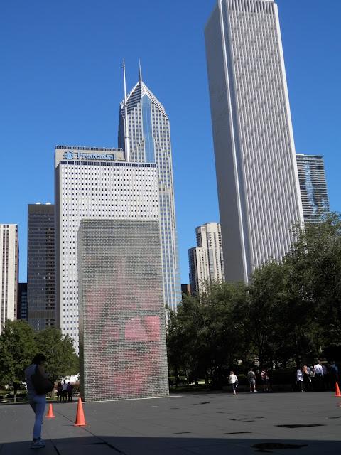 The Cown Fountain Millenium Park à Chicago
