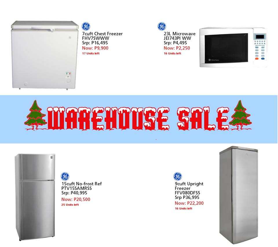 Warehouse Kitchen Appliances Manila Shopper Ge Philips Ariston More At Cya Warehouse Sale