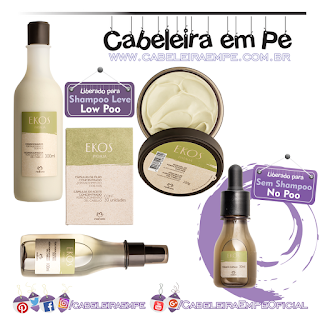 Produtos Liberados Linha Ekos Patauá - Natura (Condicionador, Máscara, Cápsulas e Óleo liberados para Low Poo e Tônico liberado para No Poo)