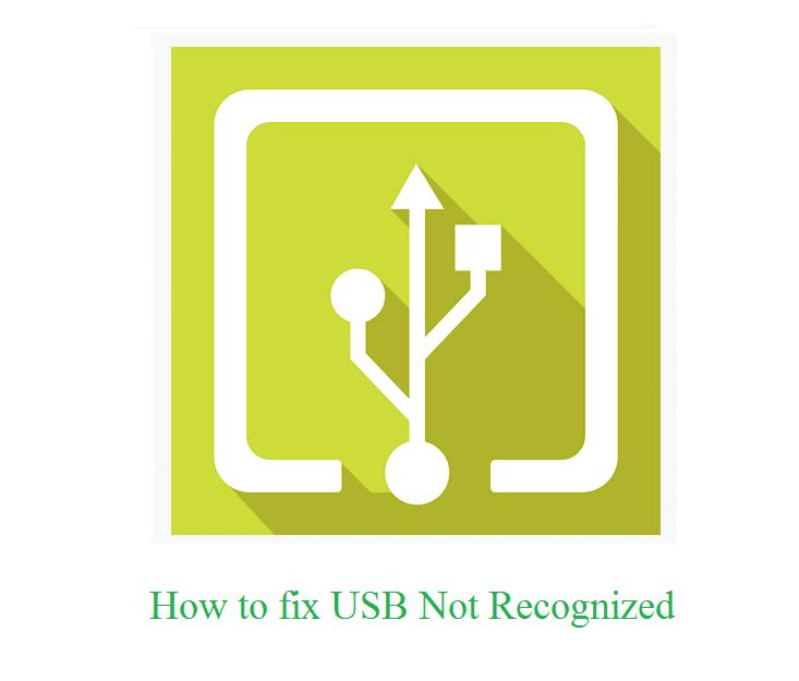 Memperbaiki USB Not Recognized Di Windows