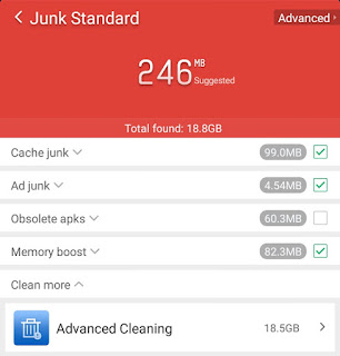Clean Master Junk Standard