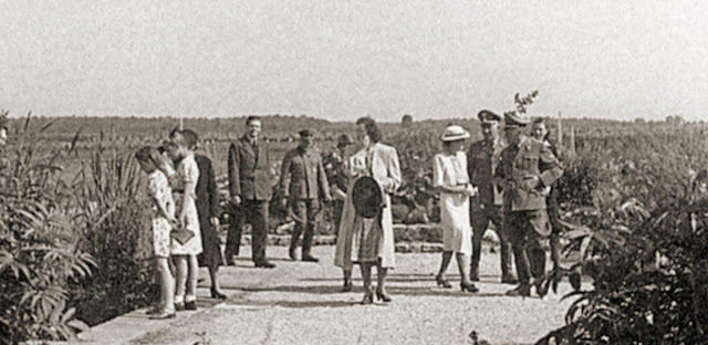 Gudrun Himmler and Marga Himmler at Dachau, 22 July 1941 worldwartwo.filminspector.com