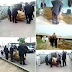 Nigerians surprised as man is buried in a customised 'fish-shaped' casket in Akwa Ibom State (Photos)