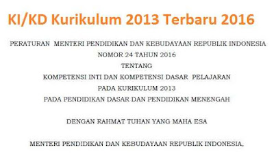 KI_KD Kurikulum 2013 Terbaru 2016