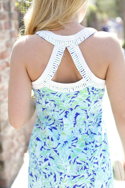 Lilly Pulitzer lea shift back detail