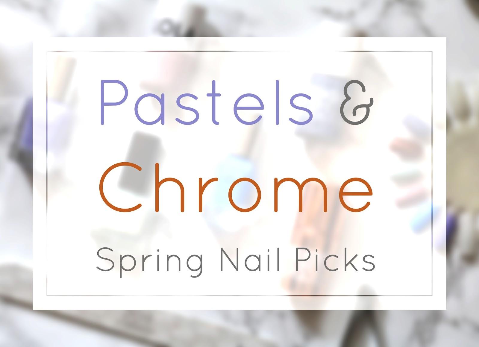 Spring Pastel Nails 2016