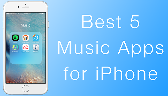 best iphone music apps top 5 apps for iphone to in 2016 8192