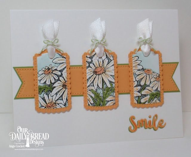 ODBD Daisy Single, ODBD Custom Inspiration Words Dies, ODBD Custom A Gift for You Dies, ODBD Custom Large Banners Dies, Card Designer Angie Crockett