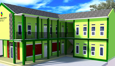 Contoh Autocad  Gedung Sekolah Madrasah 2 Lantai