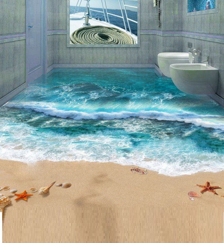 3D Bathroom Flooring Designs And Installing Tips
