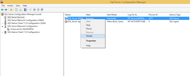 How to start SQL SERVER in Windows 8.1