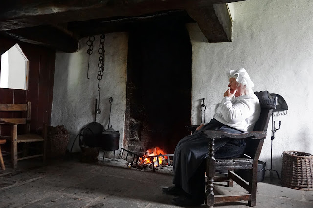 1700's large farm homestead fireplace - Ulster American Folk Park - Carrie Gault 2018