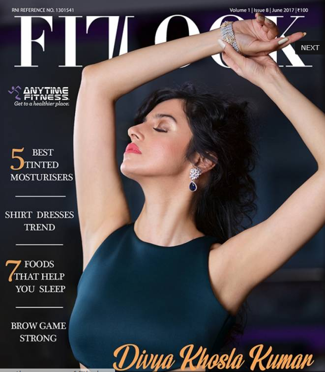 Divya Khosla Kumar on the Cover Page of Fitlook Magazine June 2017