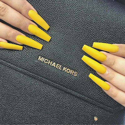 Simple and Stylish Yellow Acrylic Nails