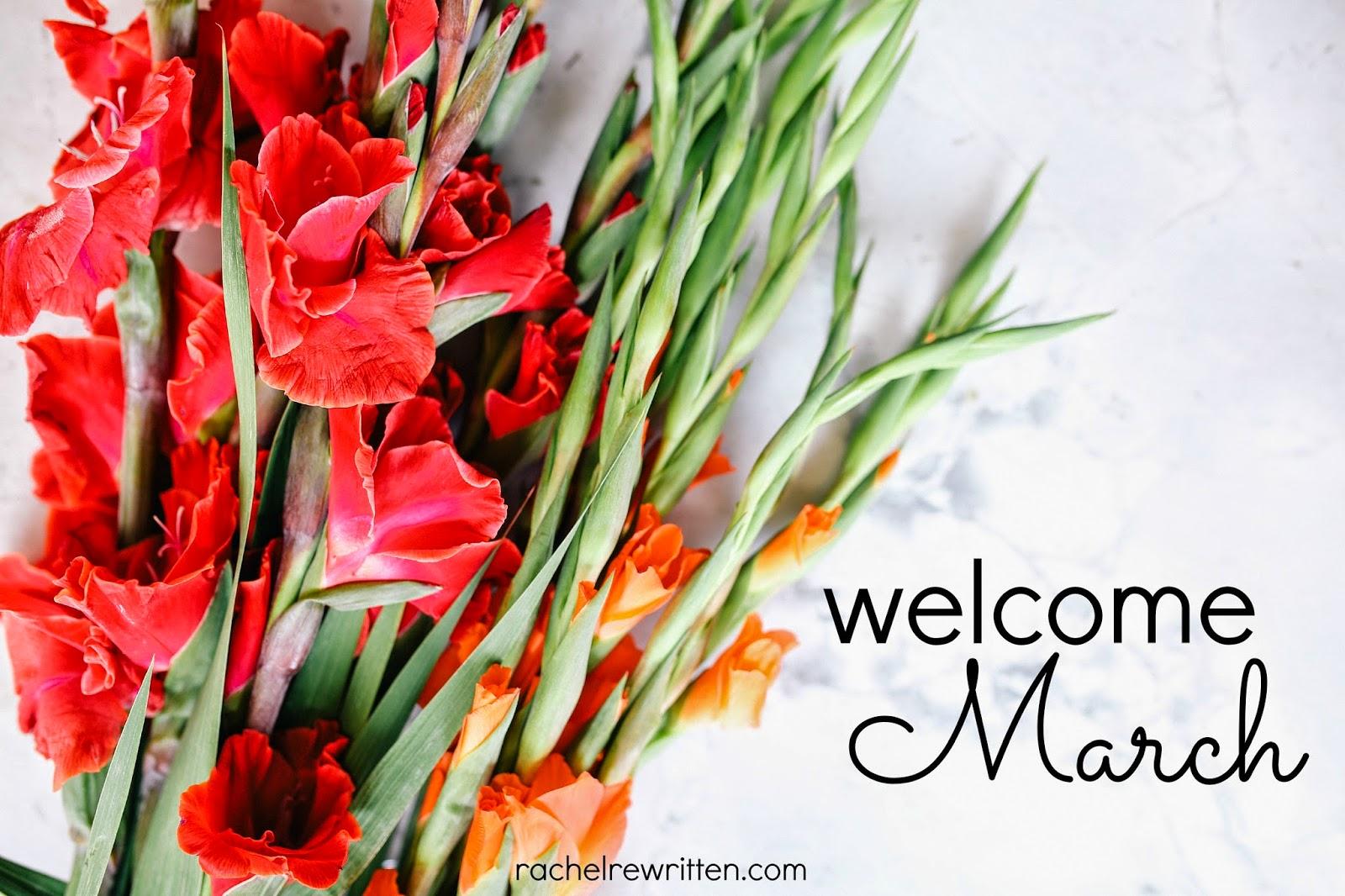 Welcome March Goals For The Month Rachel Rewritten