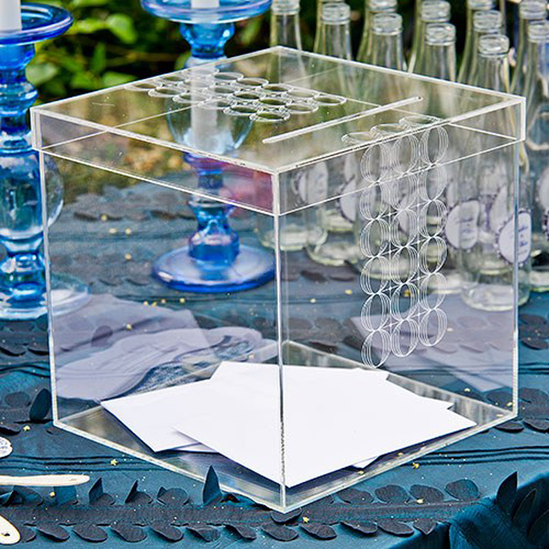 Circle of Love Clear Acrylic Card Box