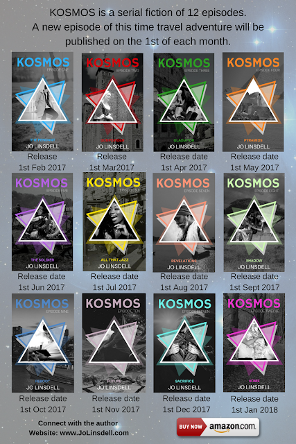 #KOSMOS #SerialFiction by @jolinsdell. #PreTeen #TimeTravel Adventure