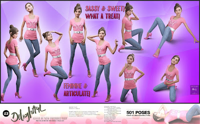 i13 Delightful Pose Collection for the Genesis 3 Female