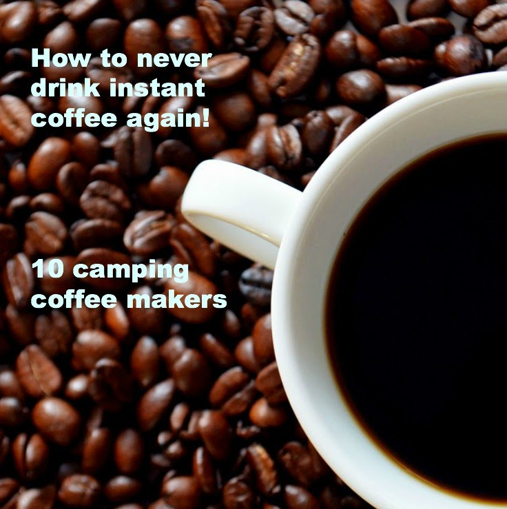Never drink instant coffee again.  Camping coffee makers just got clever