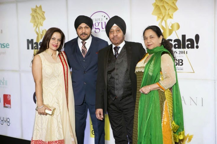 Harmeek Singh with family, Masala! Awards 2014 Photo Gallery